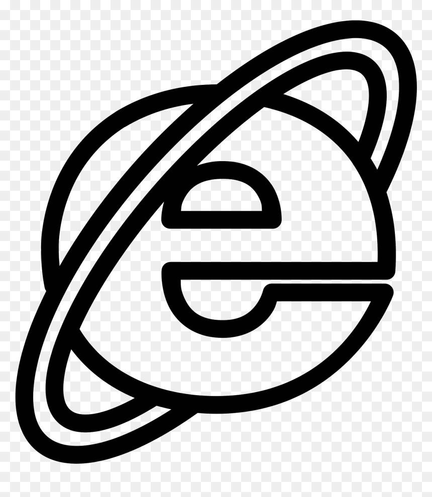 Internet Transparent Black And White Internet Explorer Clipart Black And White Hd Png Download Vhv