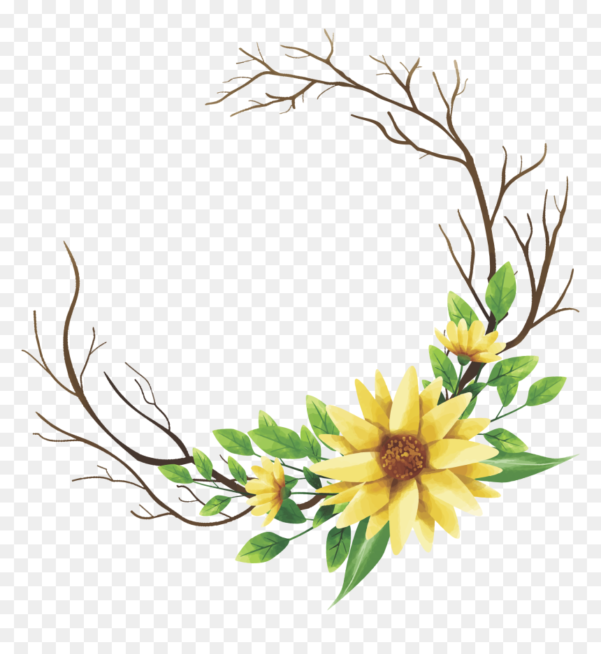 transparent yellow flower frame hd png download vhv transparent yellow flower frame hd png