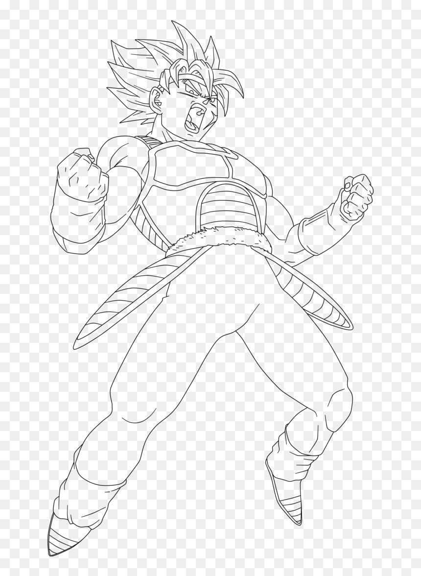 - Dragon Ball Z Bardock Ssj Coloring Pages Sketch Coloring