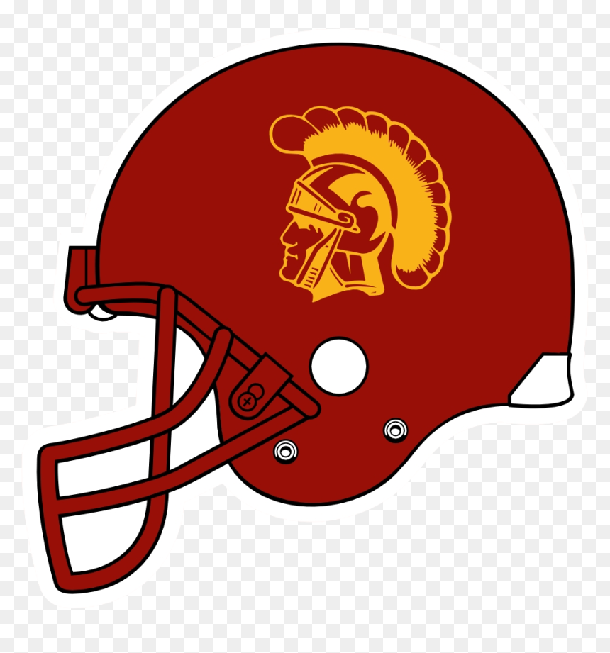 Helmet Clipart Usc Helmet Usc Transparent Free For Logo Usc Football Helmet Hd Png Download Vhv
