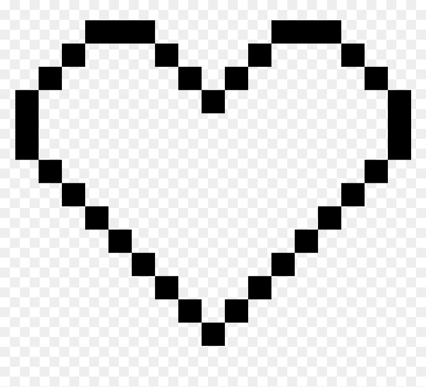 Top Images For Zelda Heart Pixel Art Minecraft On Picsunday White Pixel Heart Png Transparent Png Vhv