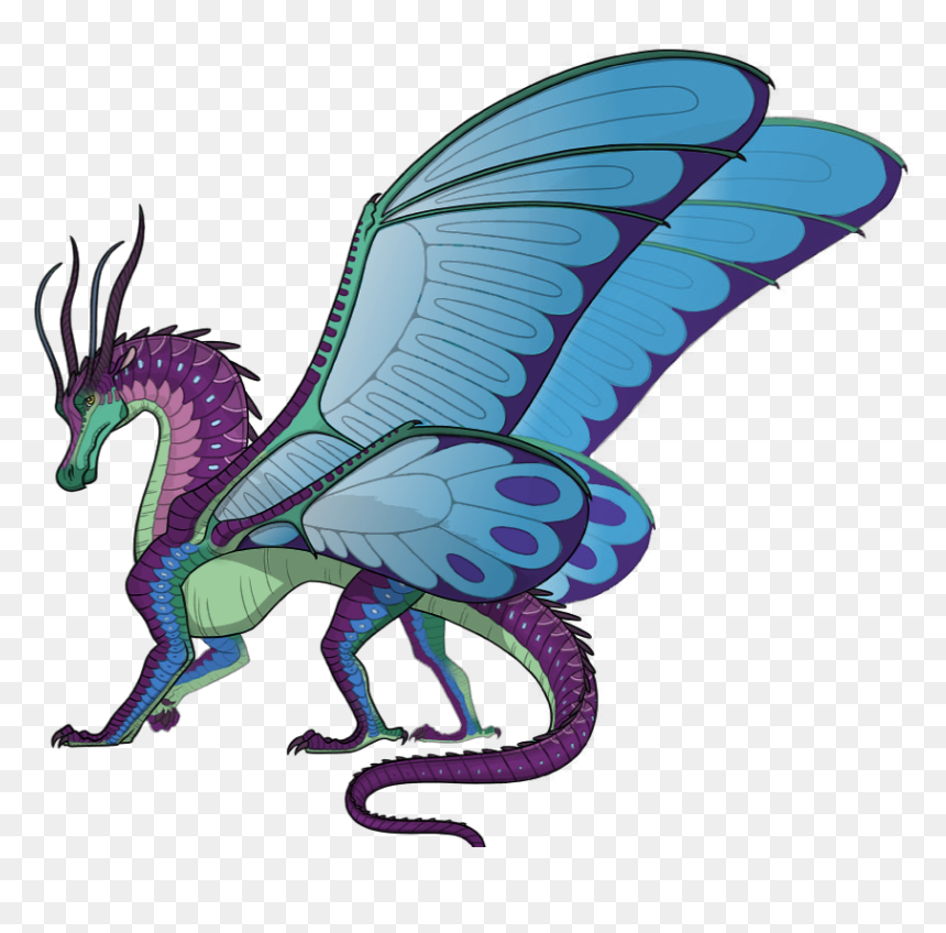 Blue Wings Of Fire Silkwing, HD Png Download - vhv