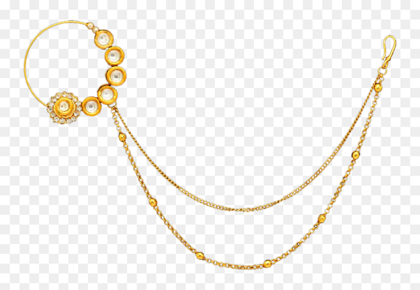 Sarita Nose Ring Nose To Ear Chain Png Transparent Png Vhv