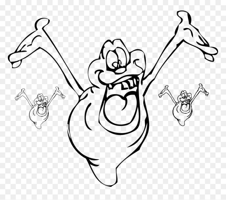 Collection Of Slimer High Quality Free Slimer Ghostbuster Coloring Pages Hd Png Download Vhv