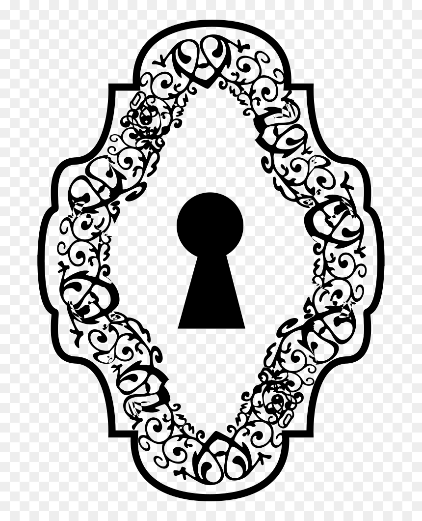alice in wonderland keyhole clipart - HD820×1060