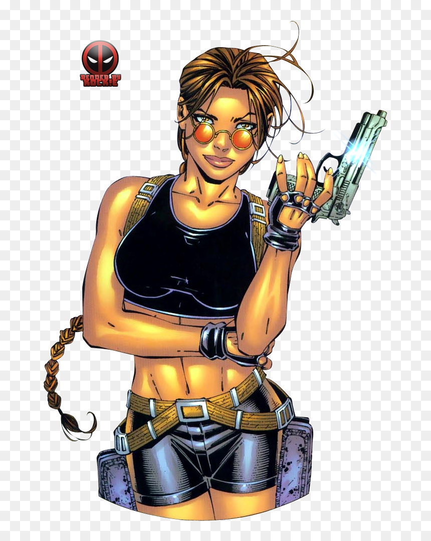 Lara Croft Tomb Raider Comic Clipart Png Download Tomb Raider Comic Transparent Png Vhv