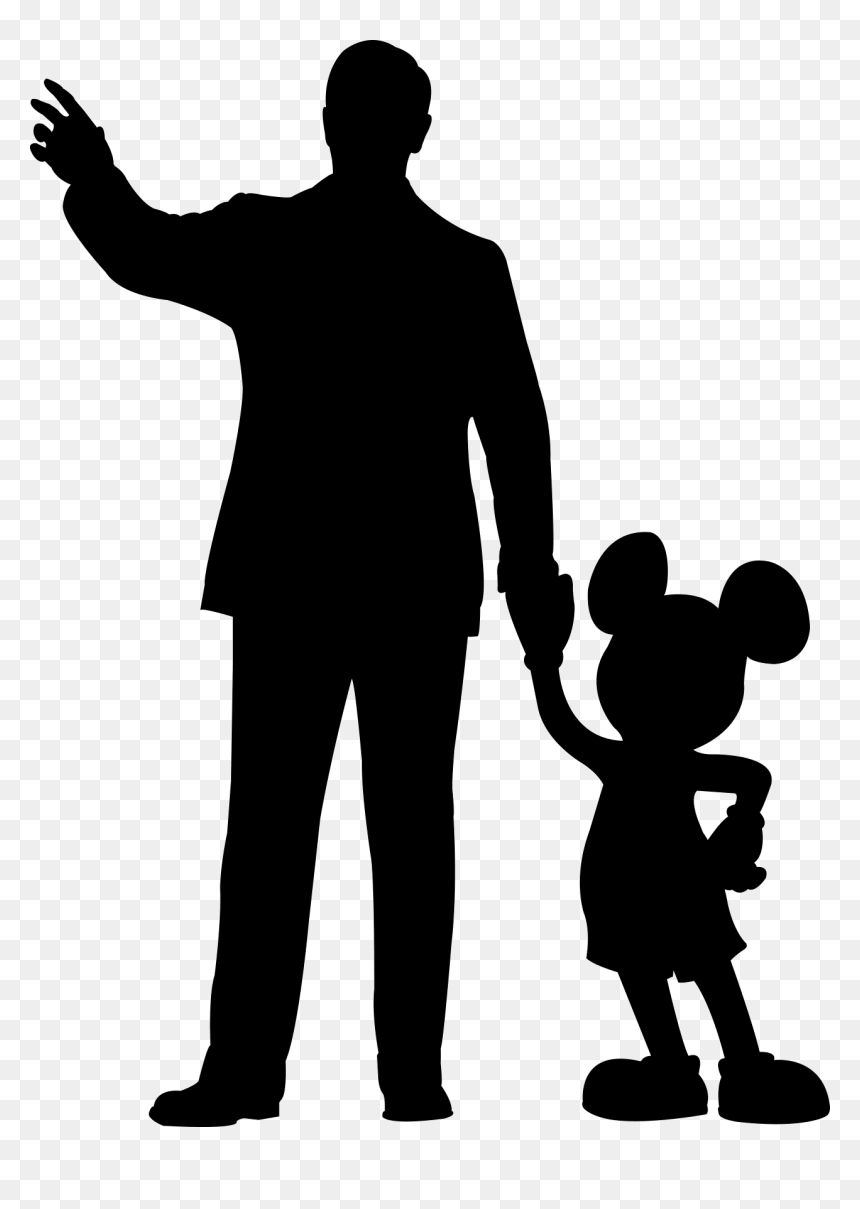 Walt Disney Mickey Mouse Silhouette Png Download Walt Disney And Mickey Mouse Png Transparent Png Vhv
