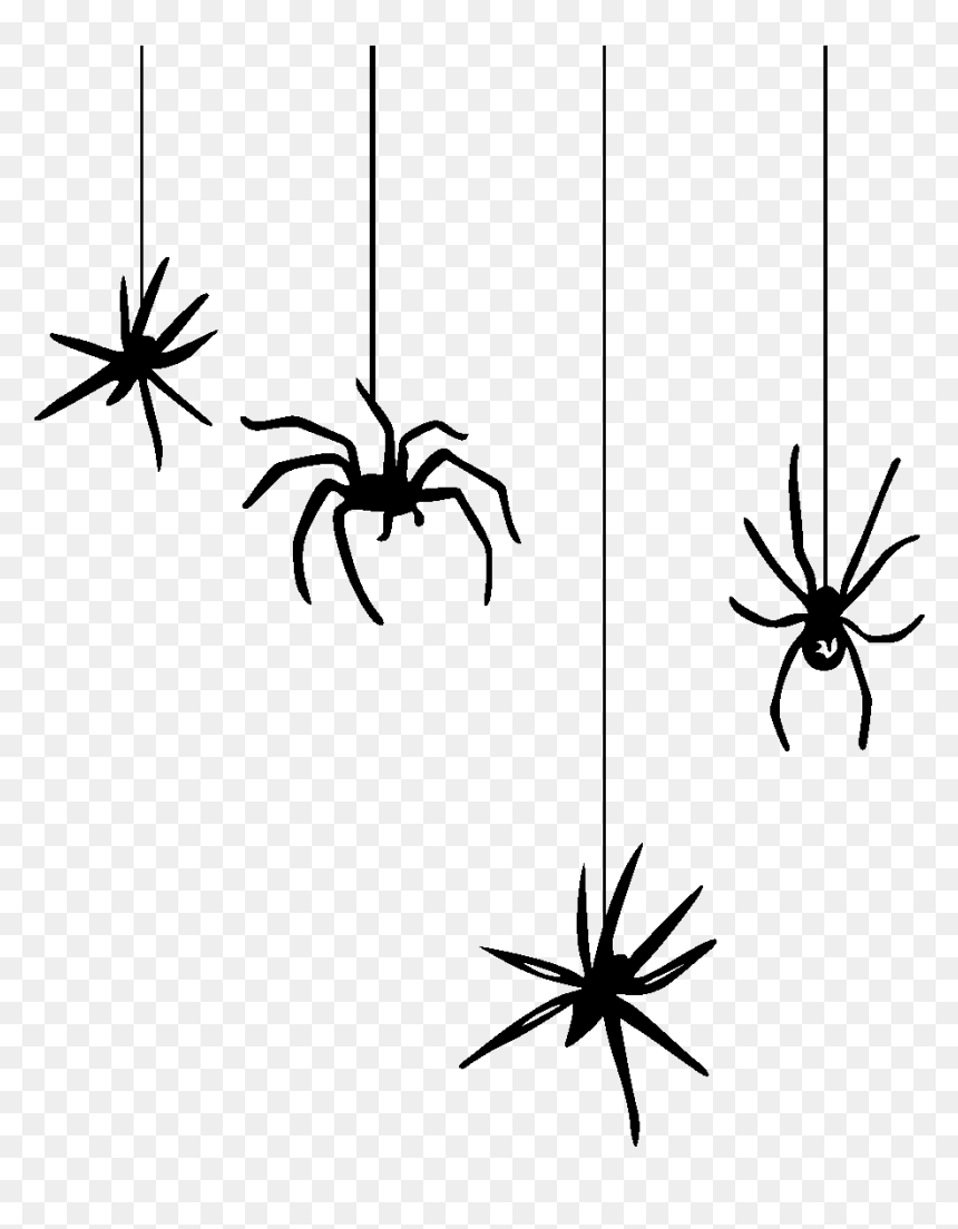 Halloween Spider Clipart.Halloween Spiders Hanging From Web Clipart Image Black Hanging Spider Clipart Hd Png Download Vhv