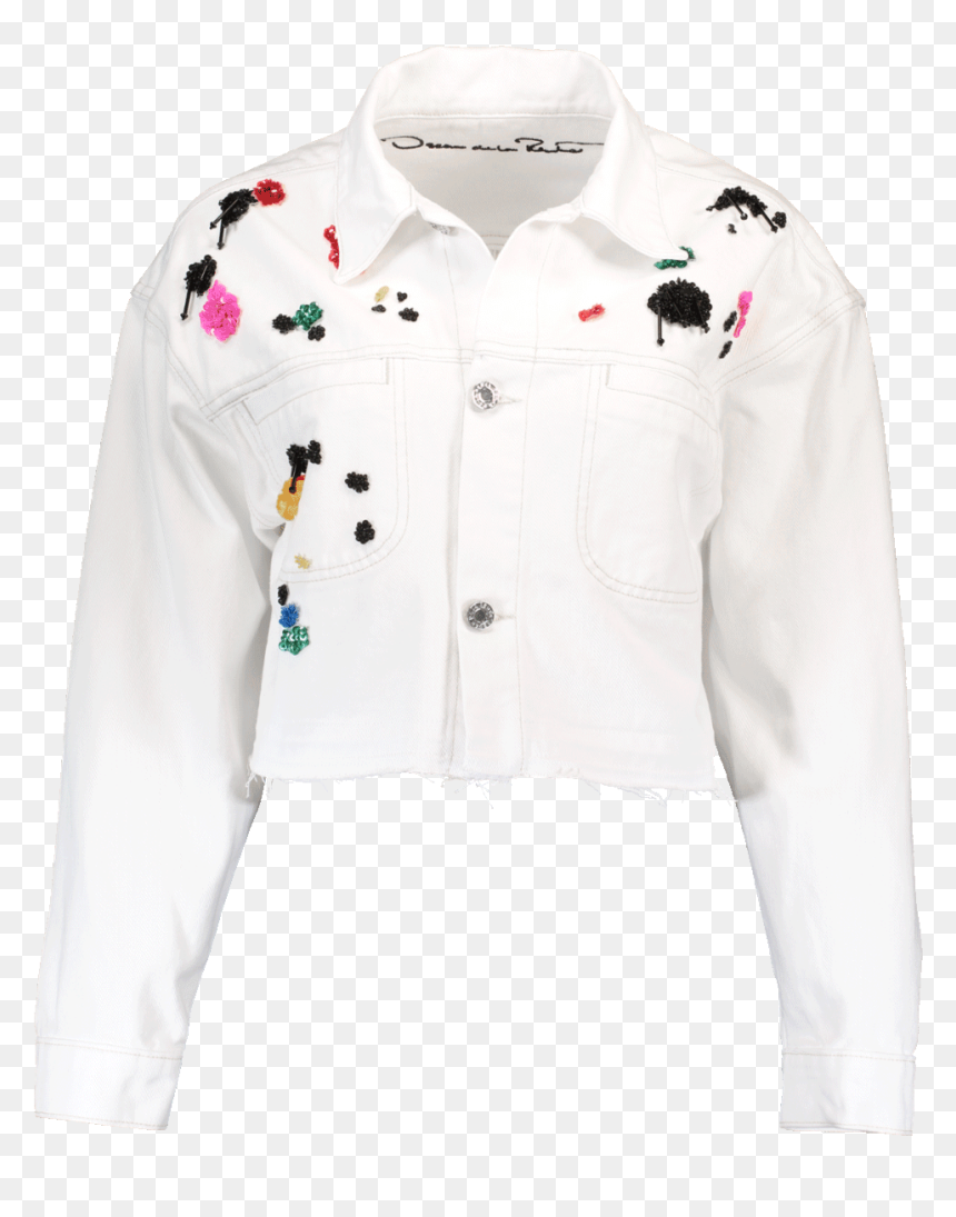 Painted White Denim Jacket Hd Png Download Vhv