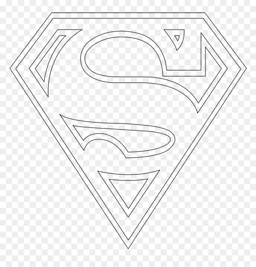 Superman Logo Outline Png Superman Logo Transparent Png Vhv