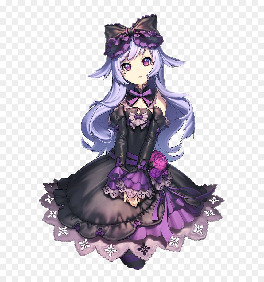 Pastel Goth Anime Girl , Png Download - Cute Goth Anime Girl