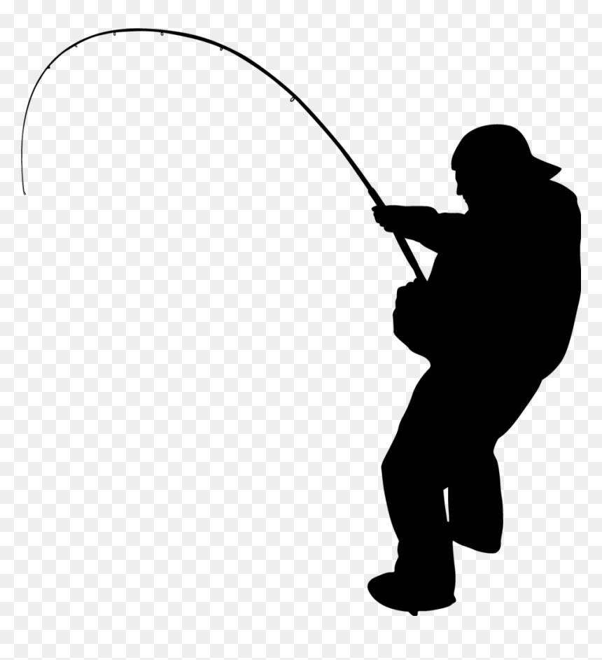 Fishing Png V Silhouette Of Man Fishing Transparent Png Vhv