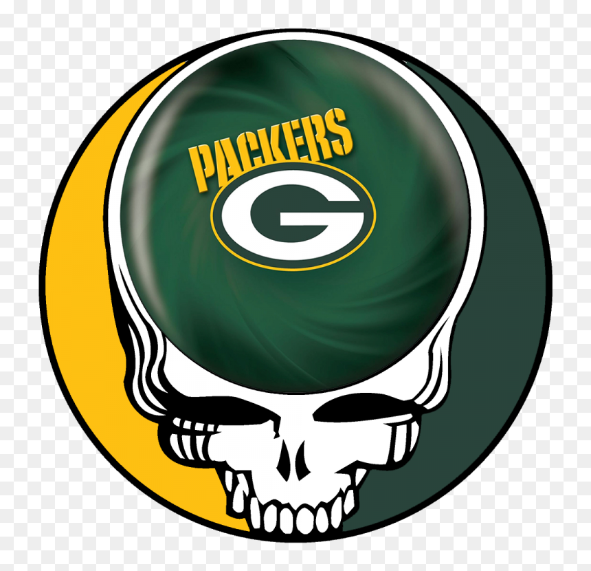 Green Bay Packers Skull Logo Iron On Transfers Grateful Dead Steal Your Face Hd Png Download Vhv
