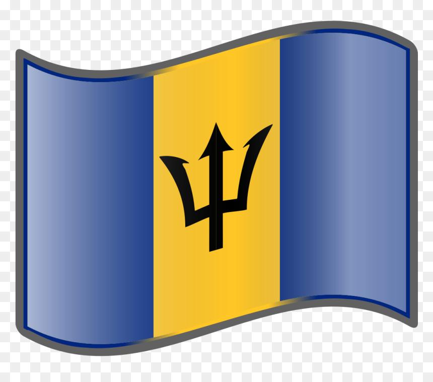 Barbados Flag Square Tie Clip