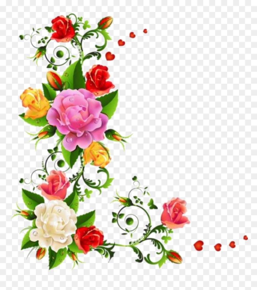 Transparent Flower Clipart Borders Flower Corner Border Design Hd Png Download Vhv,Breast Cancer T Shirt Designs