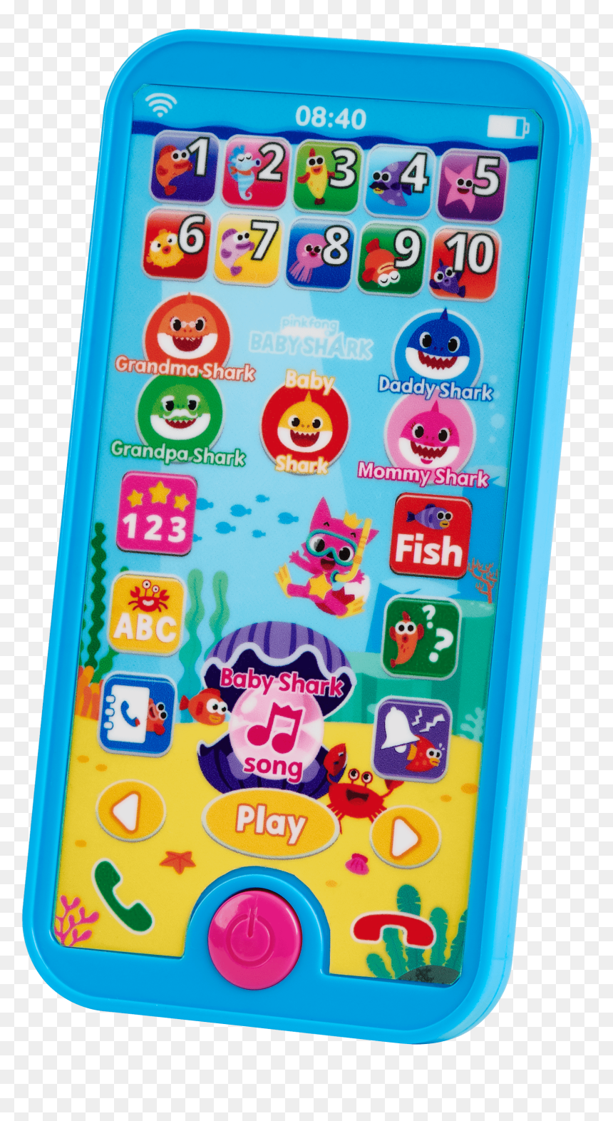 Pinkfong Shark Family Mike Wireless Singing Microphone Baby Shark Smartphone Hd Png Download Vhv