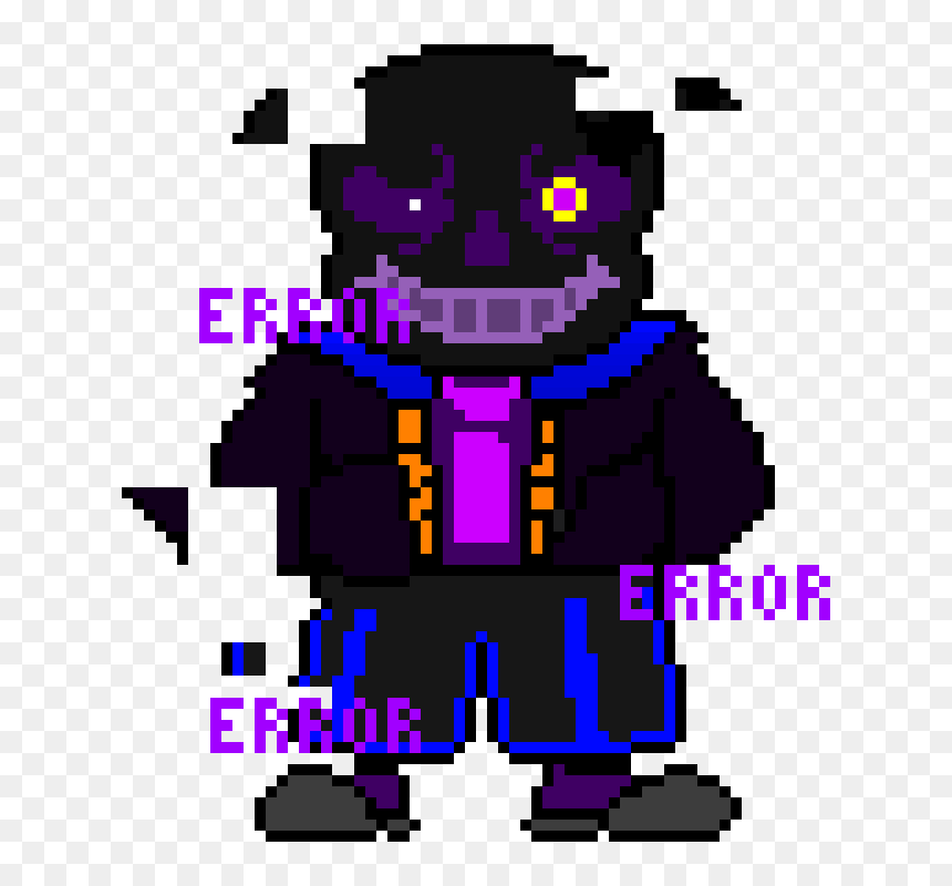 Error Sans Pixel Art Maker Png Download Error Sans Pixel Art Transparent Png Vhv