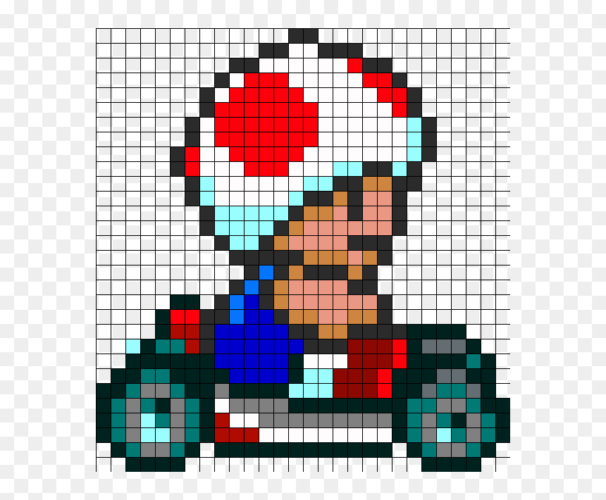 super mario bros 3 pixel art grid