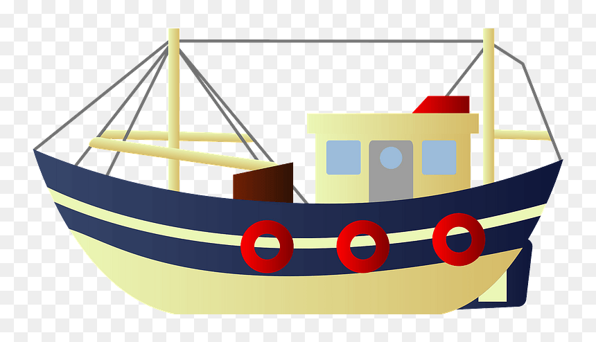 Fishing Boat Clipart 著作 権 フリー イラスト 船 Hd Png Download Vhv