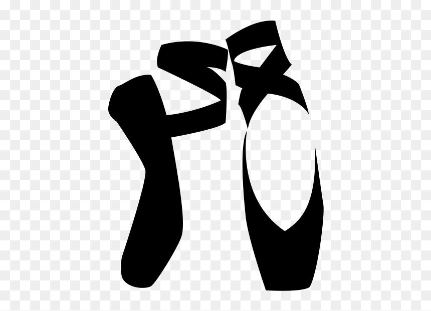 Ballet Shoe Pointe Shoe Dance Clipart Black And White Ballet Shoes Hd Png Download Vhv