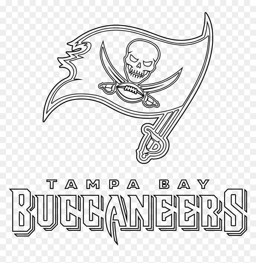 Tampa Bay Buccaneers Logo Outline Outline Of Tampa Bay Buccaneers Hd Png Download Vhv
