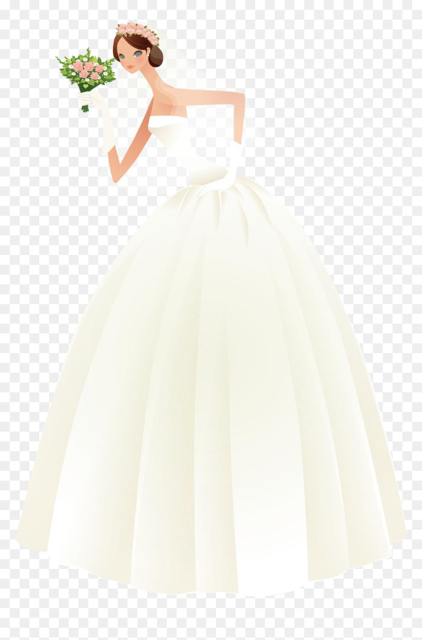 Bride Dress Png Wedding Vector Bride Dress Transparent Png Vhv