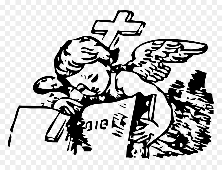 Little Angel And Bible Svg File Angel Bible Vector Hd Png Download Vhv