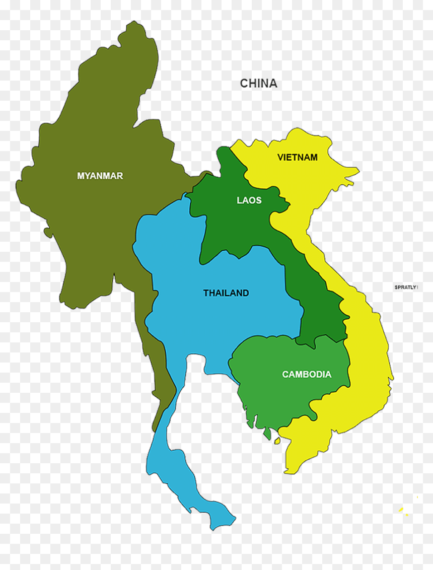 List Of Countries In Southeast Asia Png Download Myanmar Thailand Laos Cambodia Vietnam Map Transparent Png Vhv