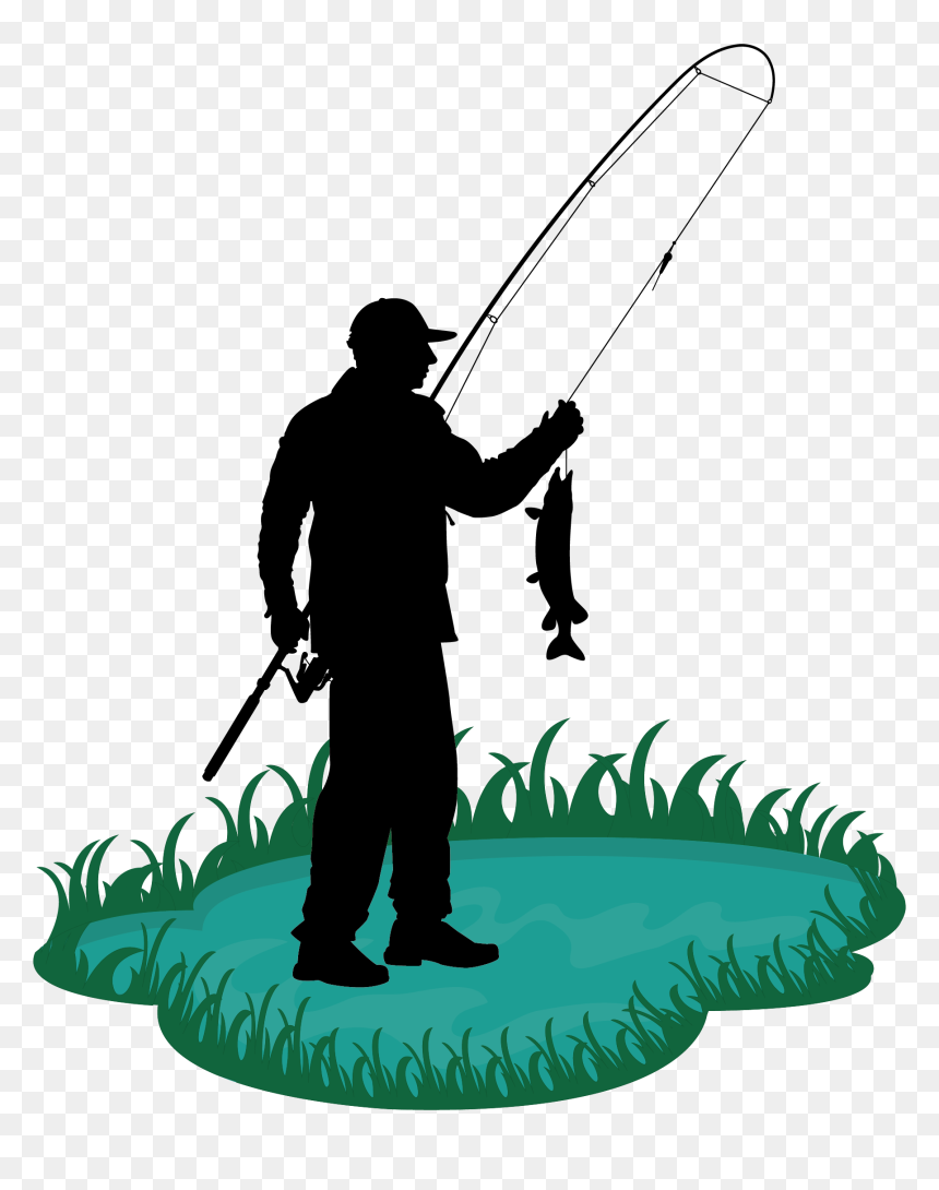 Clip Library Stock Fishing Rod Clip Art Old Man Transprent Man Fishing Pole Cartoon Hd Png Download Vhv