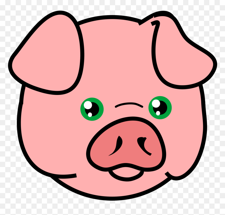 Head Of A Pig Hd Png Download Vhv