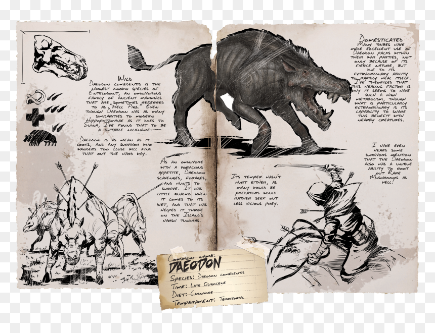 Ark Extraordinary Kibble Ark Survival Evolved Daeodon Hd Png Download Vhv The daeodon has a large maw which it uses for fighting as well as eating the large quantities of meat that it needs to replenish its health. ark survival evolved daeodon hd png