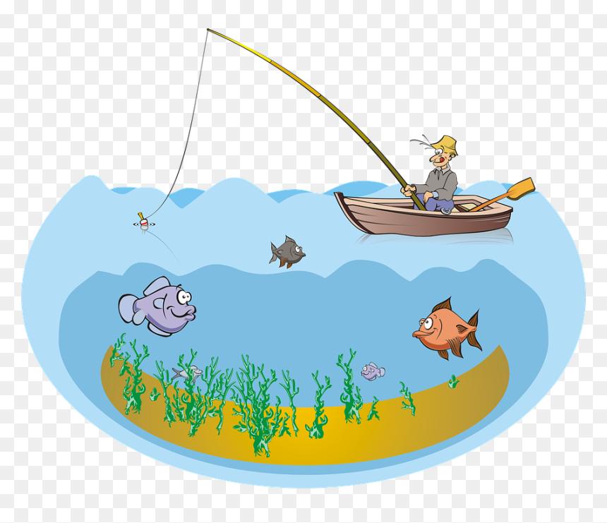Fishing Fish Fisherman Boat Mare Pond Lake Sea Fishing Pond Clipart Hd Png Download Vhv