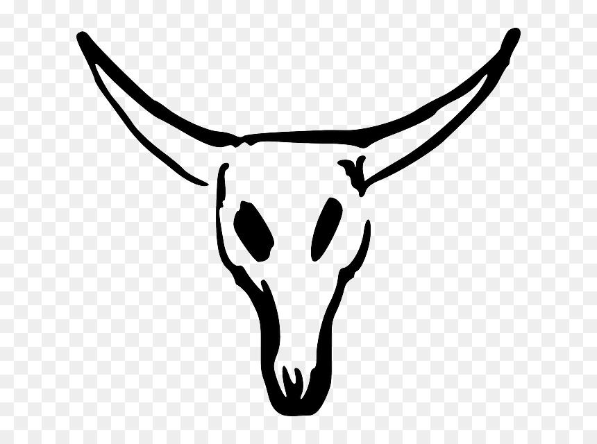 Texas Longhorn Animal Skulls Clip Art Cow Skull Clipart Hd Png Download Vhv