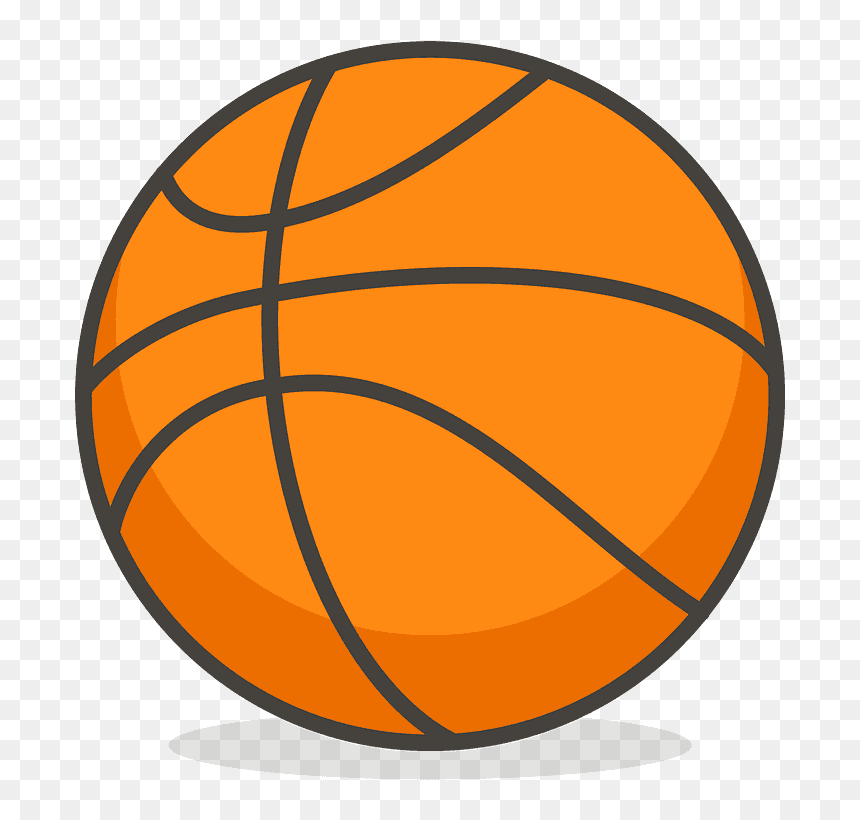 Basketball Emoji Clipart Basketball Ball Cartoon Png Transparent Png Vhv