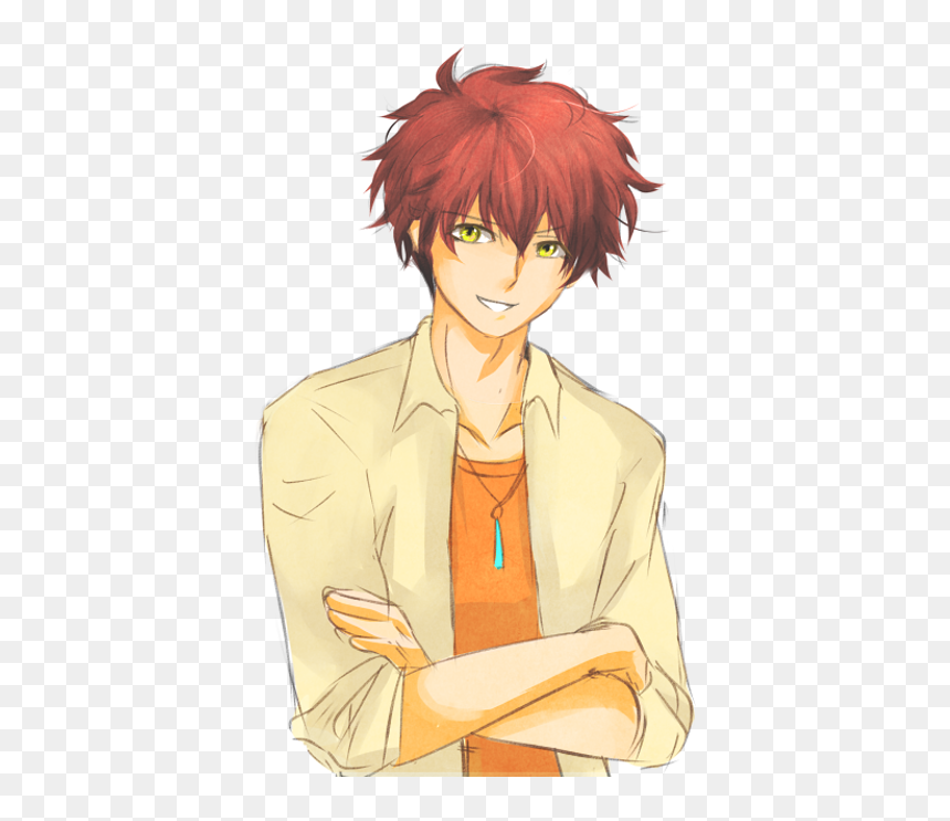 Brown Hair Hair Coloring Black Hair Red Hair Anime Boy With Black And Red Hair Hd Png Download Vhv