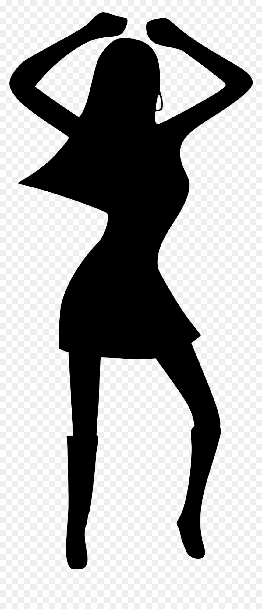Dance Party Disco Silhouette Disco Dancing Clip Art Hd Png Download Vhv