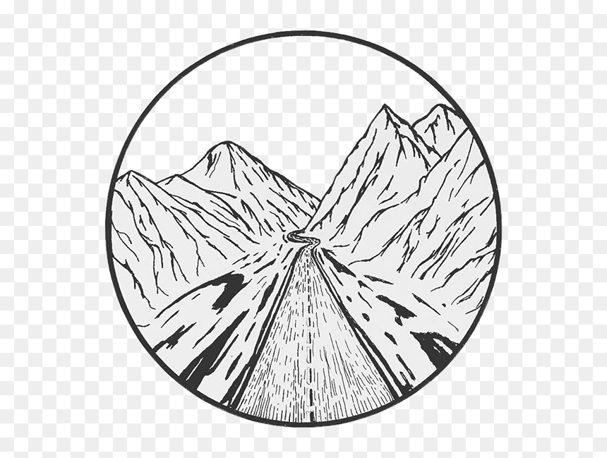 Mountain Boho Travel Indie Aesthetic Drawing Inkfreetoe Aesthetic Black And White Drawing Hd Png Download Vhv