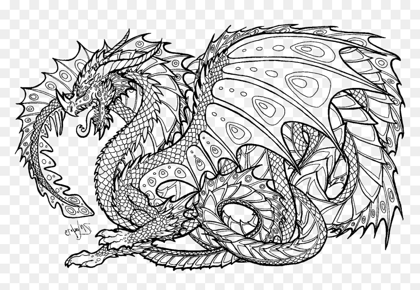 Dragon Coloring Pages Realistic | Coloring Pages Dragon Coloring ... | 594x860