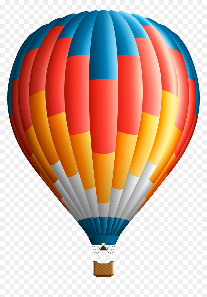 Gold Hot Air Balloon Clipart Scrapbooking Einladung | Etsy