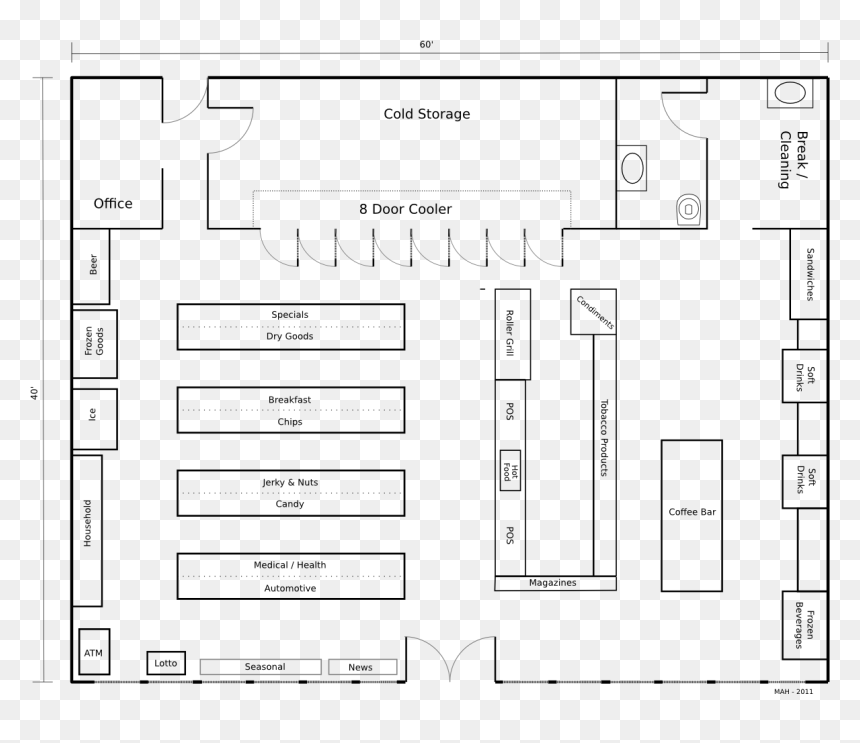 Retail Store Floor Plan Layout Hd Png Download Vhv
