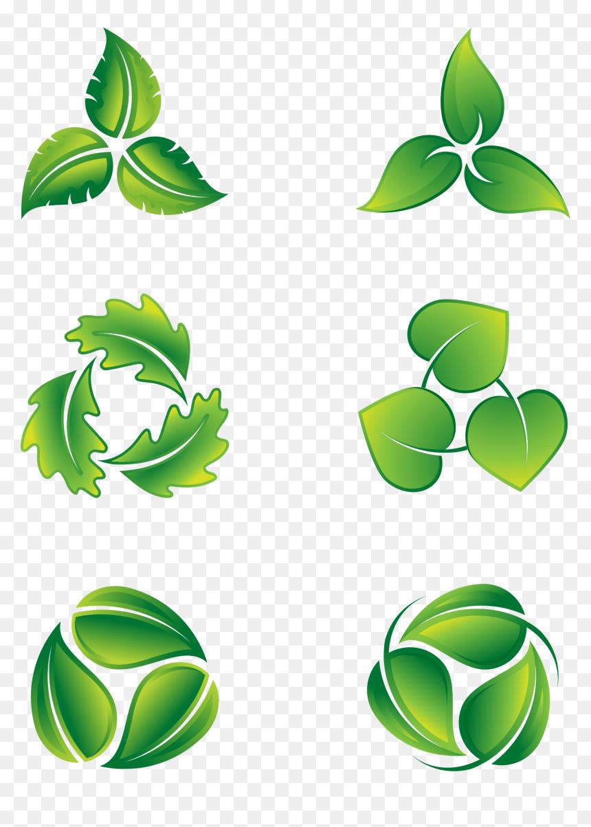 Transparent Green Leaf Icon Png Vector 3 Leaves Green Logo Png Download Vhv