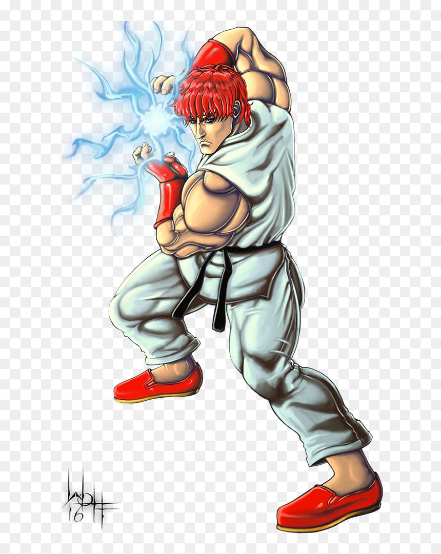Png Ryu Drawing Hadouken Street Fighter 1987 Ryu Transparent