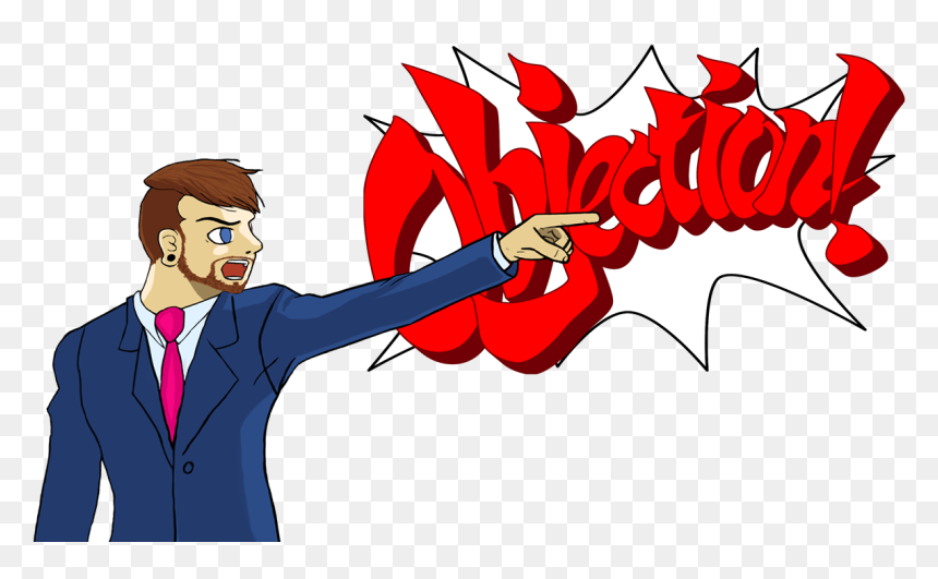 Phoenix Wright Objection Transparent Png Download Ace Attorney