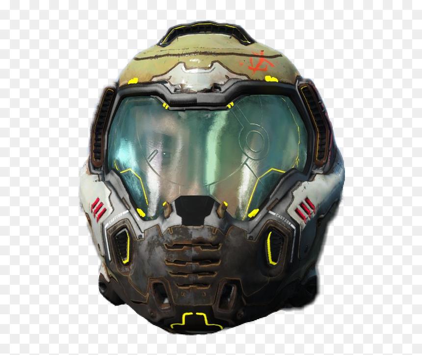 doom guy helmet transparent