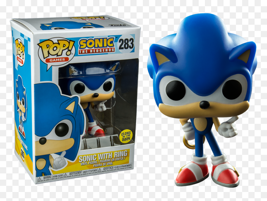Sonic Funko Pop Sonic With Ring Sonic Glow In The Dark Pop Hd Png Download Vhv