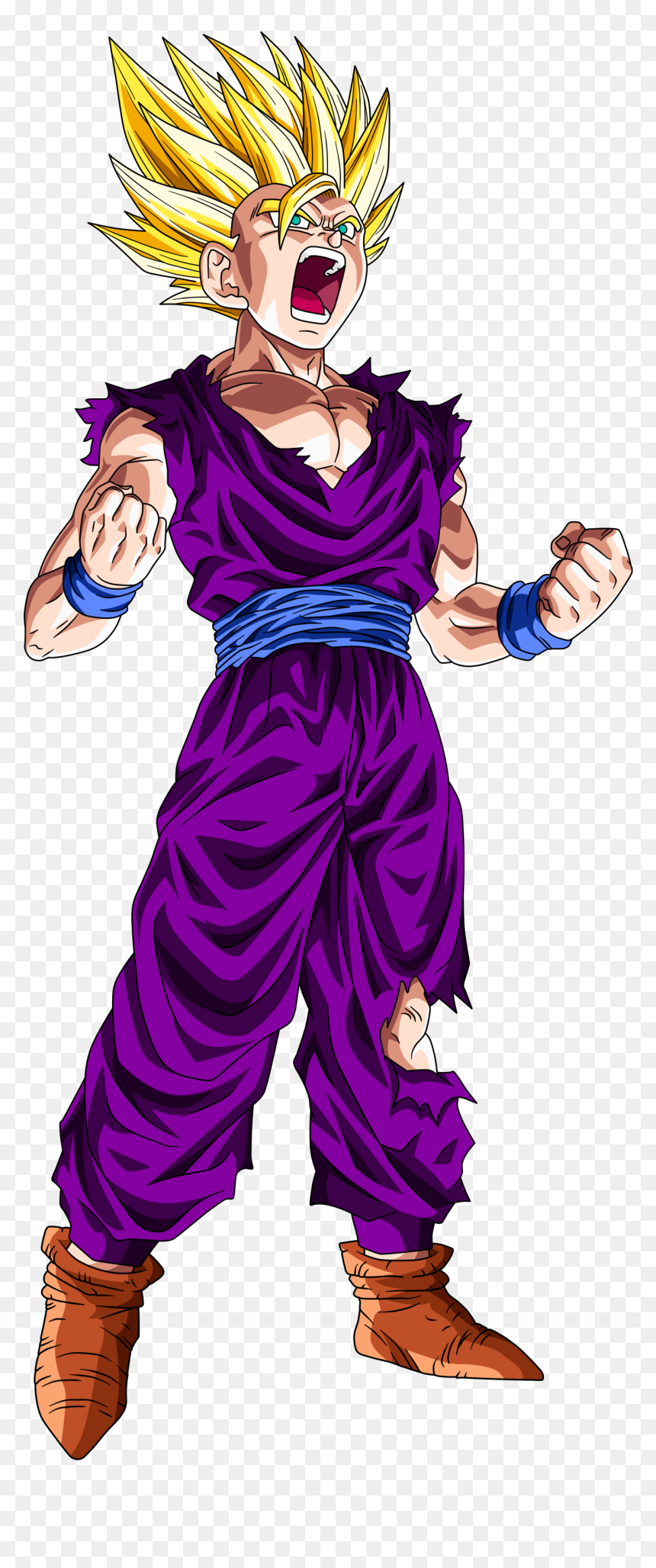Teen Gohan Super Saiyan 2 Hd Wallpaper Backgrounds Gohan Ssj2 Hd Png Download Vhv
