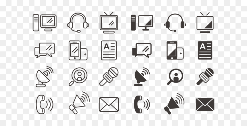 Communication Icons Vector Communication Free Vector Art Hd Png Download Vhv