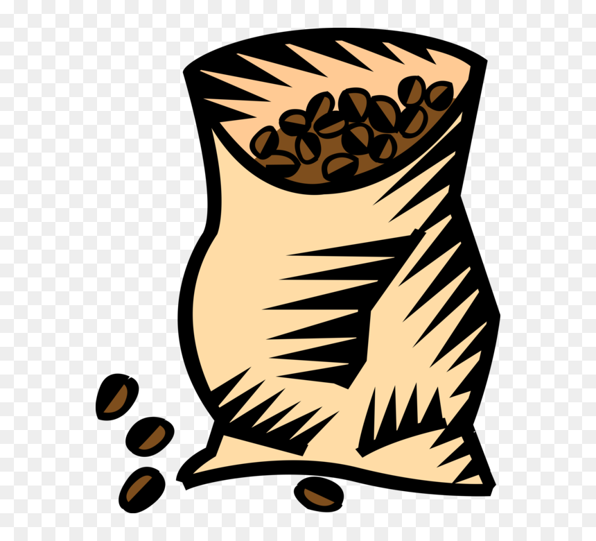 vector illustration of bag of coffee bean seed of the vector coffee bag png transparent png vhv vector coffee bag png transparent png