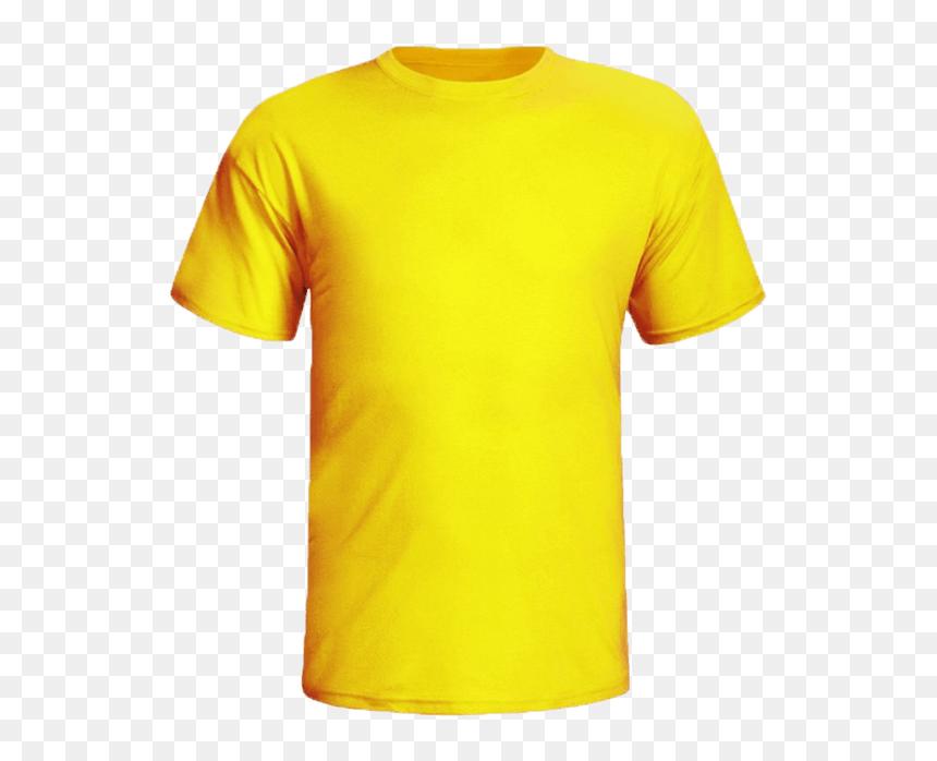 Mens Yellow Plain T Shirt Hd Png Download Vhv