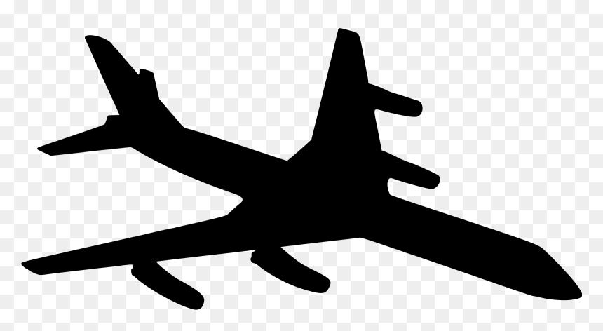 Aeroplane Silhouette Aeroplane Silhouettes Hd Png Download Vhv